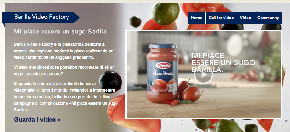 Barilla video Factory
