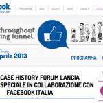 16 aprile al Facebook Case history Forum