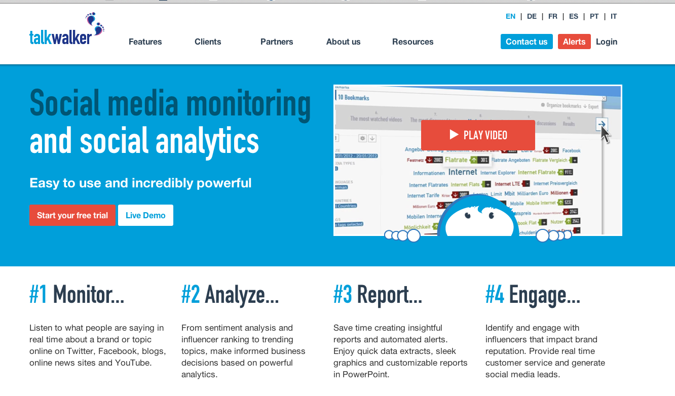 Talkwalker, social media listening, analysis and reporting