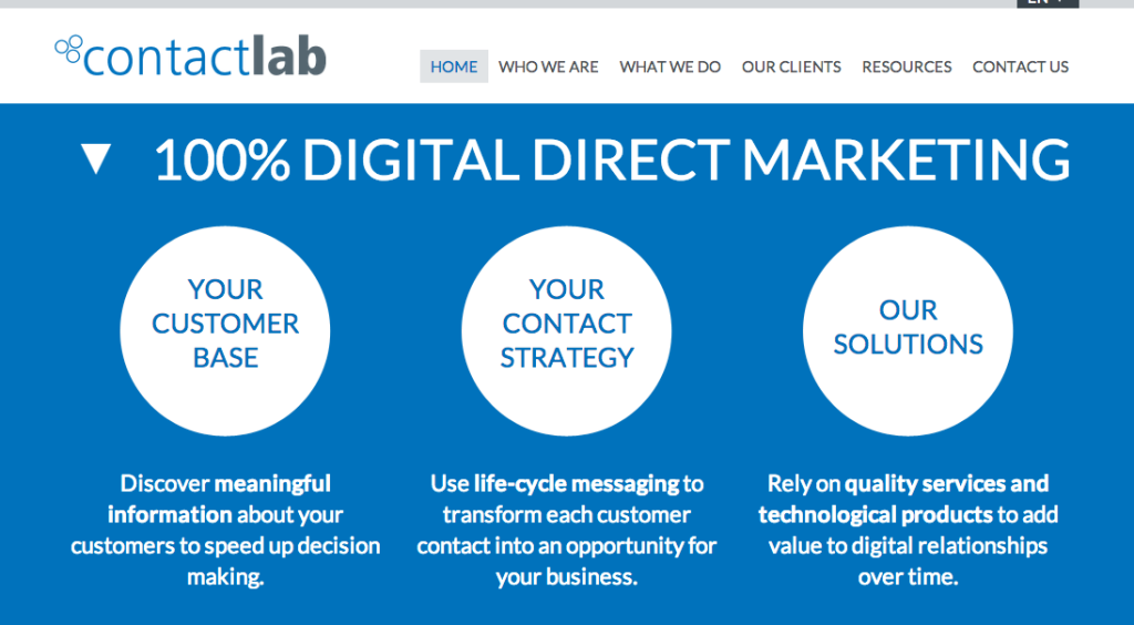 ContactLab Home Page